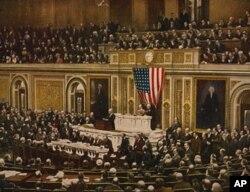 1917年4月威尔逊总统要求国会向德国宣战