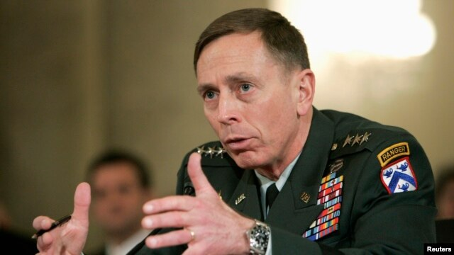 FILE - David Petraeus, a former U.S. military commander and CIA director. Petraeus wrote in the Sunday Telegraph newspaper on March 27, 2016, that a British exit from the European Union would significantly weaken the bloc's security.
