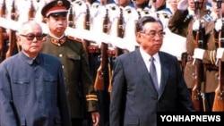 1987년 5월 중국을 방문한 북한 김일성 주석(오른쪽).