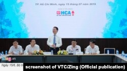 Minister of Information Nguyen Manh Hung meets with southern IT companies, July 15, 2019