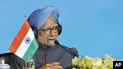 2011年的金砖五国峰会上,印度总理辛格发表讲话