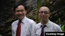 中国贵州贵阳活石教会的仰华牧师和苏天富牧师(活石教会成员提供)