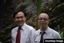 中国贵州贵阳活石教会的仰华牧师和苏天富牧师(资料图,活石教会成员提供)