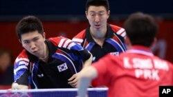 2012년 런던올림픽 남자탁구 단체전 남북대결 8강전 경기