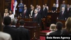 Pobednik predsedničkih izbora Tomislav Nikolić polaže zakletvu pred novim sazivom Skupštine Srbije.