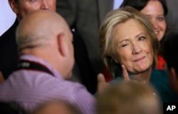 Prezidentliyə demokrat namizəd Hillari Klinton