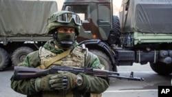 Un séparatiste pro-russe, Donetsk, 29 octobre 2015