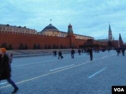 红场、克里姆林宫和列宁墓(美国之音白桦拍摄)