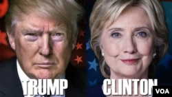 Kandidat Presiden AS, Donald Trump dan Hillary Clinton (foto: