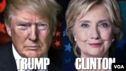 Kandidat Presiden AS, Donald Trump dan Hillary Clinton (foto: