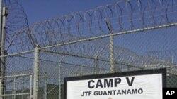 Entrance to Guantanamo's Camp V (file photo)