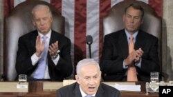 以色列总理内塔尼亚胡向美国参众两院发表讲话