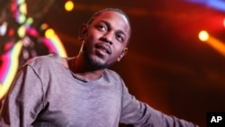 Kendrick Lamar performs on stage at Power 106's 'Cali Christmas' 2015 held at The Forum on Friday, Dec., 4, 2015, in Inglewood, Calif.