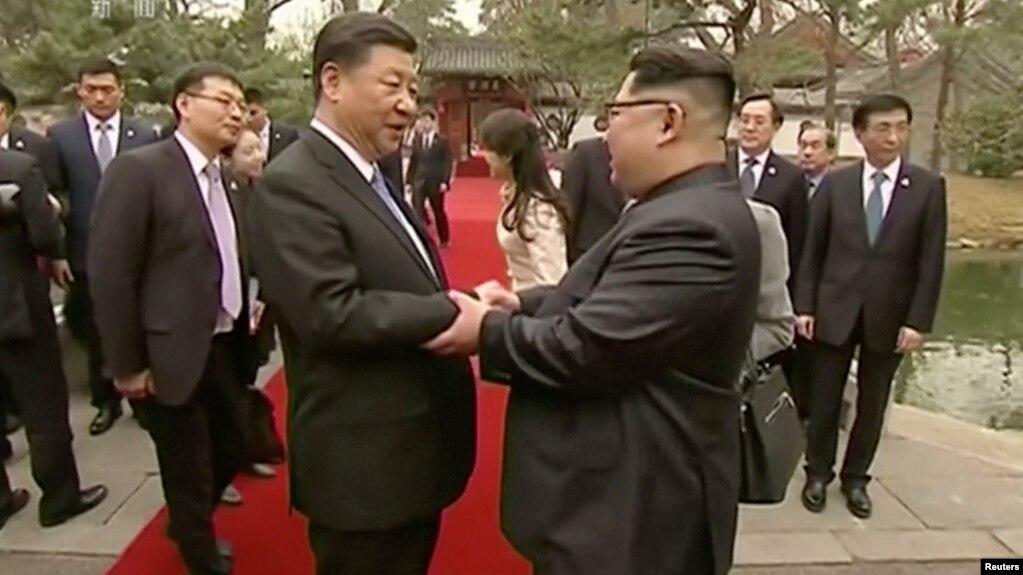 Историческая встреча Ким Чен Ына с председателем КНДР Си Цзиньпином
