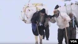 کولبران کرد در مرز ایران و عراق