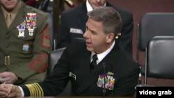 美军印太司令部司令菲利普·戴维森在国会作证。(2019年2月12日)