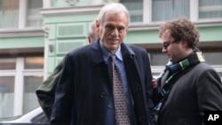Menkeu Siprus Michalis Saris tiba di Moskow untuk membahas krisis finansial negaranya dengan Menkeu Rusia (20/3).