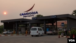 FILE: Siem Reap International Airport on 20 March 2015, a few hours before US First Lady Michelle Obama is expected to arrive in Cambodia. (VOA Khmer)