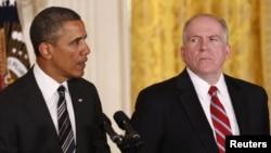 Барак Обама и Джон Бреннан. Белый дом, Вашингтон. 7 декабря 2013 года