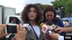 """Jafet Montes, hija de Eddy Montes Praslin, muerto a manos de los custodios de la cárcel """"La Modelo""""."""