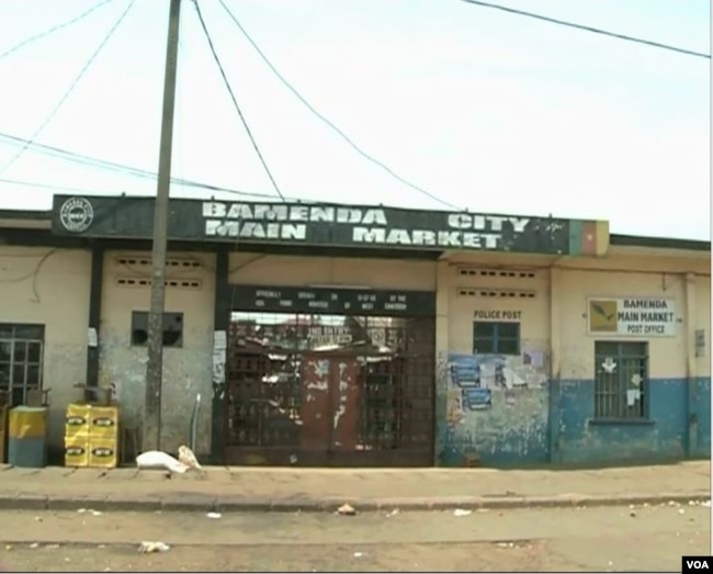 Bamenda market remains closed, Bamenda, Feb. 6, 2019. (E. Kindzeka/VOA)