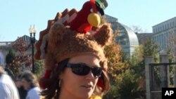 打扮成火鸡的艾米