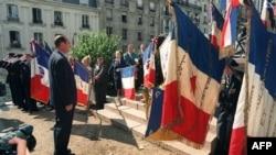 Photo prise le 16 juillet 1995 du président de la République Jacques Chirac lors des cérémonies commémoratives de la rafle du Vel d'Hiv le 16 juillet 1942.