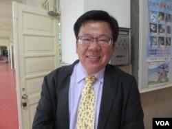 台湾立法院最大党民进党立委李俊俋(美国之音张永泰拍摄)