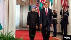 """""""Esta es la India que hoy da la bienvenida a EE.UU, liderando en Asia y en todo el mundo"""", dijo Obama en el recibimiento."""