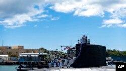 Američka podmornica prve klase USS Illinois (SSN 786) vraća se u bazu Pearl Harbor- Hickam, 13. septembra 2021.