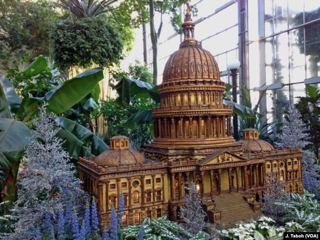 A Large Replica Of The U.S. Capitol Building Is One Of About A Dozen D.C.  Landmarks