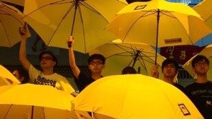香港纪念学生占中满月