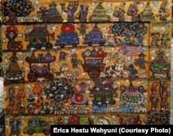 """Salah satu karya Erica """"Indonesian Harvesting."""""""