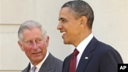 美国总统巴拉克·奥巴会晤英国查尔斯王子