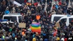 Kelompok sayap kanan Jerman melakukan demonstrasi Anti Islam di Dresden (foto: ilustrasi).