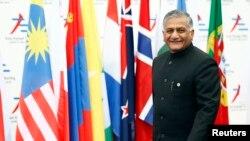 بھارت کے خارجہ امور کے وزیر مملکت وجے کمار سنگھ، فائل فوٹو