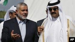 شیخ حماد بن خلیفہ الثانی اور غزہ کے وزیر اعظم اسماعیل حانیہ