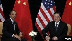 President Barack Obama mengadakan pertemuan bilateral dengan Presiden Tiongkok Hu Jintao di sela-sela KTT G-20 hari ini di Seoul.