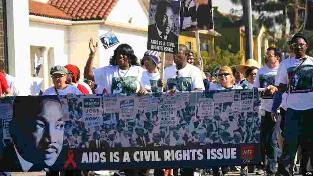 艾滋防治也是民权事项(美国之音国符拍摄)