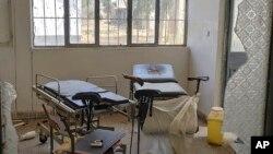 Hoospitaala Shiraaroo keessatti kutaa baqaqsanii hodhuu miidhaan irra gahe, Tigraay (suuraa Ap-n Medecins Sans Frontieres irraa argate)
