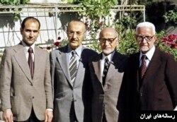 از چپ: محمد توسلی، احمد صدر حاج سید جوادی، مهدی بازرگان و یدالله سحابی