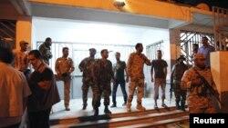 지난 달 28일 삼엄한 경계 중인 시리아 벵가지의 미국 영사관. (자료 사진)