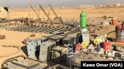 """收復摩蘇爾行動中﹐伊拉克政府軍在美軍支援下奪得""""伊斯蘭國""""的自製武器。"""