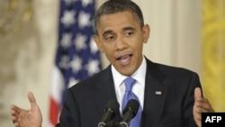Tổng thống Hoa Kỳ Barack Obama nói chuyện tại cuộc họp báo trong Tòa Bạch Ốc