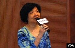 公民黨主席余若薇表示,公民提名沒有違反《基本法》(美國之音湯惠芸)