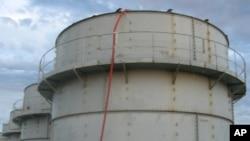 FILE - A storage tank at Fukushima.