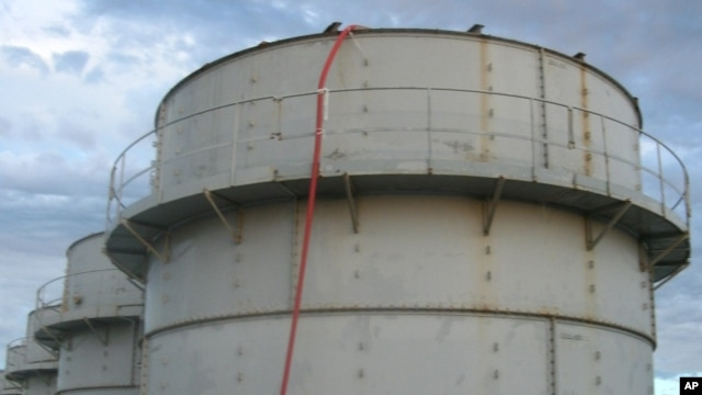 FILE - A storage tank at Fukushima.