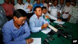 柬埔寨救國黨星期一舉行記者會,宣佈該黨不會接受最新的初步正式計票結果。