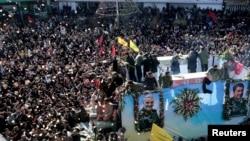 Sahrana generala Kasema Sulejmanija u njegovom rodnom gradu Kermanu odložena je zbog posle stampeda.
