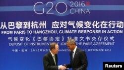奥巴马总统出席20国峰会。